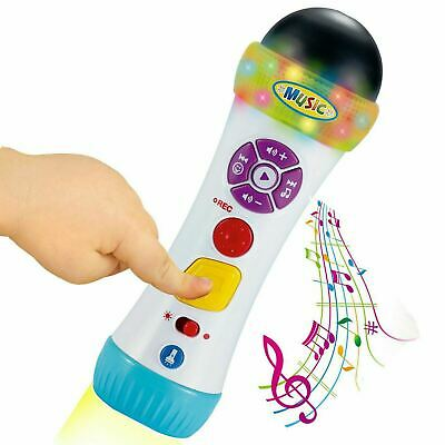 Musical Recording Microphone With Voice Changing Effects & Flashlight Kids Toy • 9.99£