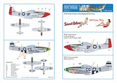 Kits-World Decals 1/32 North-American P-51D Mustangs # 32127 • 9.12£