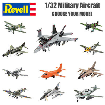 REVELL Military Aircraft Plastic Model Kit 1:32 Scale - Kit Choice • 38.95£