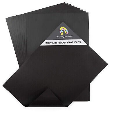 Rubber Steel Ferrous Sheet (Magnetically Receptive) - Attract + Display Magnets • 7.95£