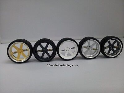1:18 Scale VOLK TE37 19 INCH TUNING WHEELS, NEW! Several Color Options!  • 14.50£