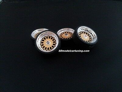 1:18 Scale BBS RS 19 INCH TUNING WHEELS, Multiple Colours Available!! • 14.50£