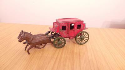Bb96: Crescent Lead Stage Coach & Horses • 22£