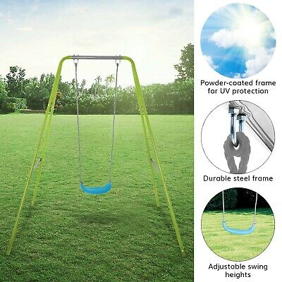 Airwave Kids Single Metal Garden Swing • 39.99£