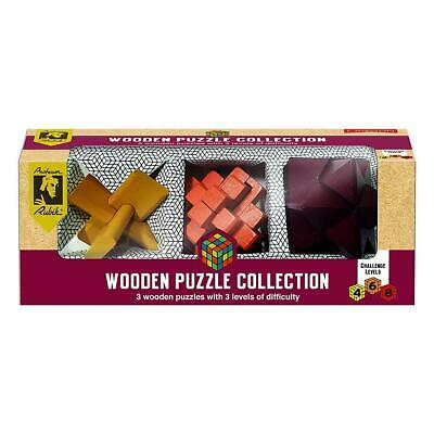 Rubik's Wooden Puzzle Collection Mental Logic Challenges Brain Training Games • 14.99£