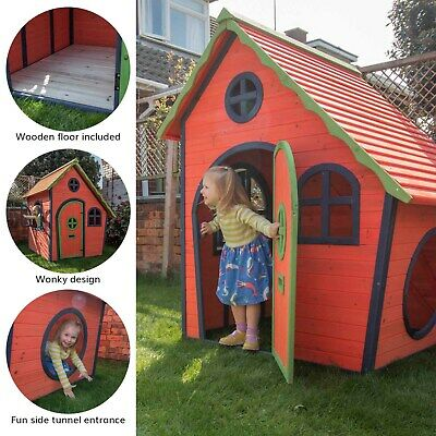 Childrens Painted Wooden Playhouse Kids Garden Outdoor Play Den - Adventure • 319.99£