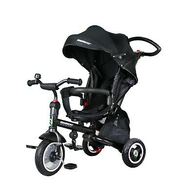 RiiRoo Kids Tricycle 4-in-1 Baby Trike With Push Handle Rotating And Reclining • 99£