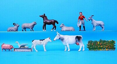 Crescent Hollow-cast Metal Models #2402 Farm Set (old Stock)...!! • 49.99£