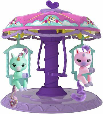 Fingerlings Twirl-a-Whirl Carousel Playset With 2 Fingerlings Unicorns • 7.50£