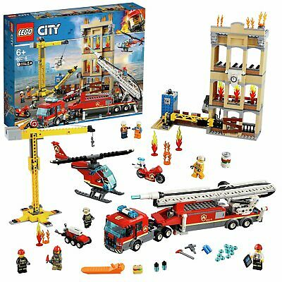 LEGO City Fire Downtown Fire Brigade Building Set With 7 Minifigures - 60216 • 70£