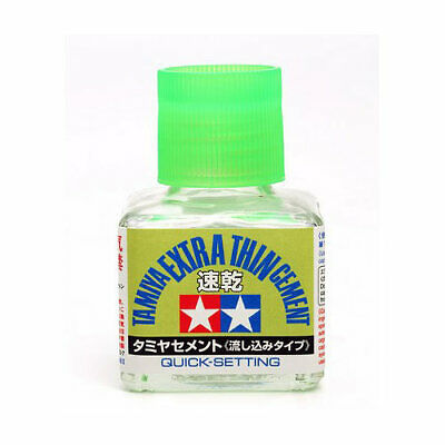 TAMIYA 87182 Extra Thin Cement Glue (Quick Set) • 6.25£