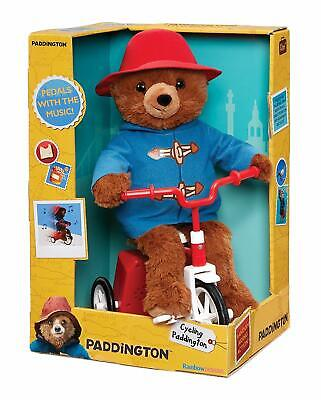 Rainbow Designs PA1449 Studiocanal Paddington Bear Cycling Plush, Blue, 24cm • 24.99£