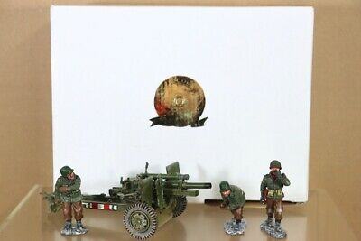 KING & COUNTRY BBA031 WWII AMERICAN INFANTRY 105 FIELD GUN & CREW Nu • 134.50£