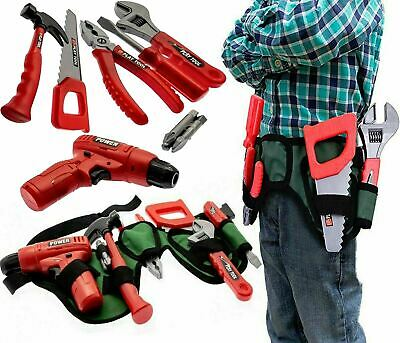 Kids Tool Set Toy & Work Belt With Tools, Drill Building Construction Play Set • 9.99£