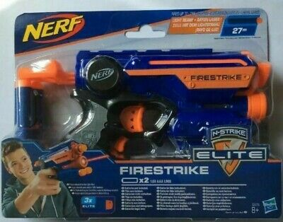 Nerf N-Strike Elite Firestrike Soft Darts Gun Blaster With Light Beam  • 9.49£