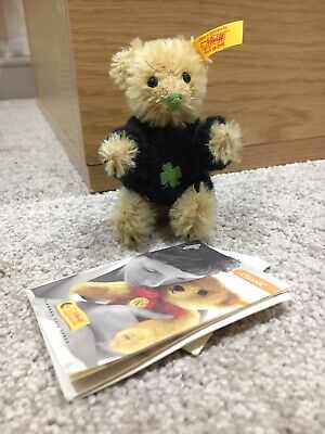 Steiff 028229 Miniature Teddy Bear Clover Leaf 2003 • 40£