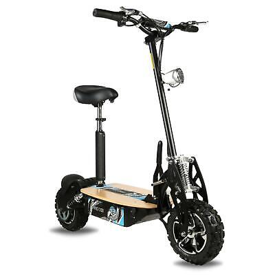Adult Pro XS Electric Scooter - Black 1600W 48V Wood Deck & Lighting • 569.95£