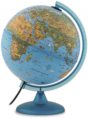 Arca Illuminated Children's Educational Globe 25 Cm Nova Rico Features Animals  • 30£