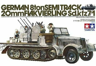 Tamiya 1/35 German 8ton Semi-Track With 20mm Flakvierling Sd.Kfz. 7/1 # 35050  • 20.42£