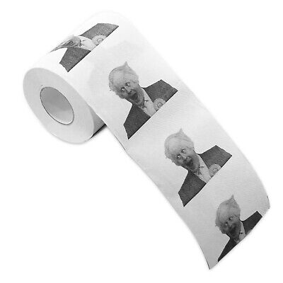 TWO Boris Johnson Toilet Paper Rolls Funny Novelty Gift - SEE VIDEO • 0.99£