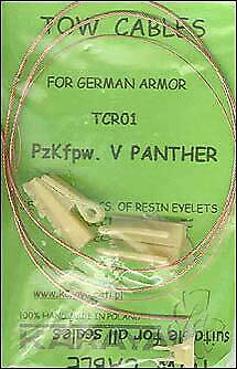 Karaya 1/35 Panther Towing Cable And Resin Eyes # TCR01 • 4.70£