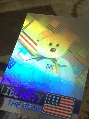 Ty Beanie Babies Trading Card Libearty The Bear Hologram, Series 2 • 19.99£