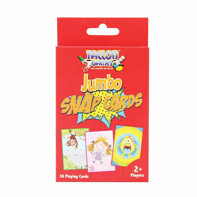 Jumbo Snap Playing Cards - Children Games Kids Toys Fun Puzzle Learning Family • 2.09£