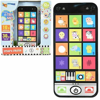 Baby Smart Phone Music Learning Toy Toddler Mobile Pretend Play Game With Light • 6.25£