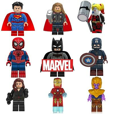 Marvel Avengers Custom Lego Mini Figures DC Superhero Iron Man Thor Batman • 2.99£
