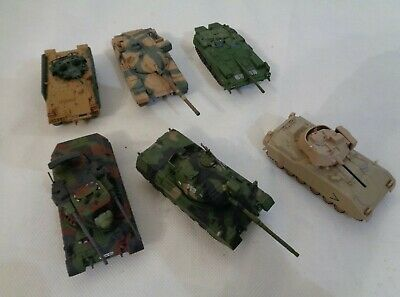 1:72 Scale Combat Tanks Static Models Detailed -set Of 6 • 19.99£