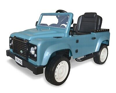 Officially Licensed Pedal Landrover Defender - BLUE With CREAM Wheels ***NEW*** • 99.99£