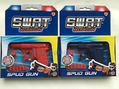 Spud Gun Retro Metal Die Cast Water Pistol Potato Toy Gun Dressing Costume SWAT • 3.99£