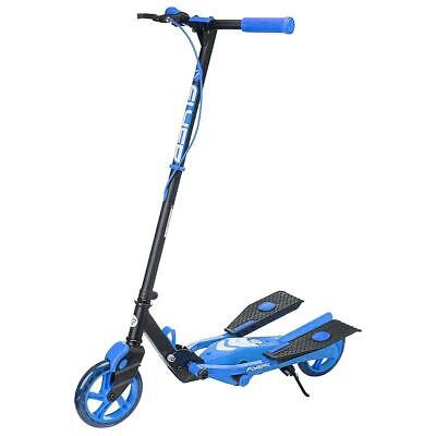 Yvolution Y Flyer Kids Foldable Pedalling Stepper Scooter Ages 7+  Blue • 69.99£