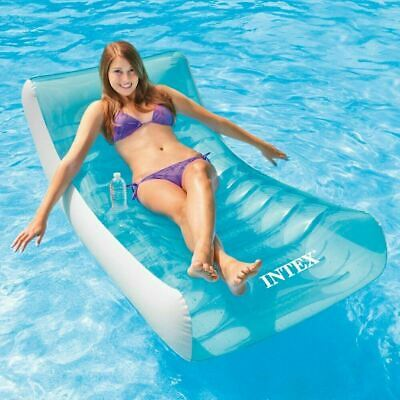 Intex Inflatable Rocking Lounger Pool Beach Swimming Float Chair 180 X 135 Cm • 23.99£