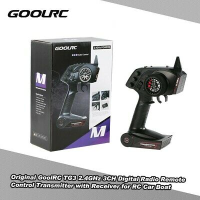 GoolRC TG3 2.4GHz 3CH Digital Radio RC Transmitter With Receiver For RC Car UK • 22.50£