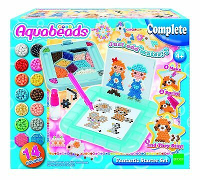 Aquabeads 31588 Fantastic Starter Set Jewel And Solid Beads In 14 Colours • 12.99£