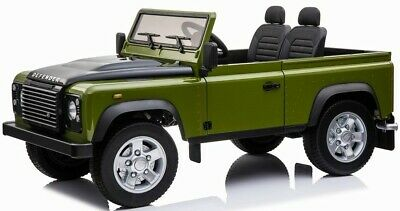 Ride On Fully Licenced Land Rover Defender 12v Two Seater With Parental Remote C • 314.95£