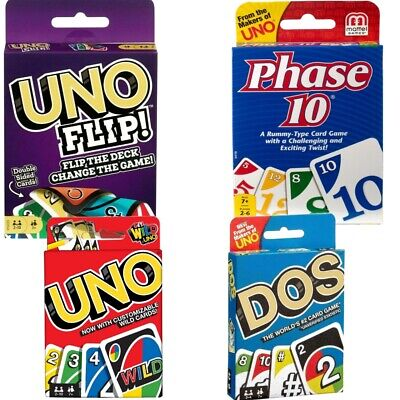 UNO,Phase Card Game Family Children Friends 108 Playing Fun Cards-Normal Card • 3.98£