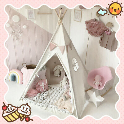 (Open-Box) Giant Princess Teepee Tent Cotton Canvas Kids Childrens • 36.99£