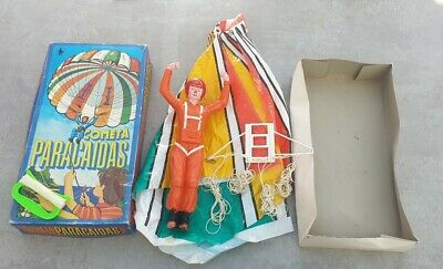 Rare Vintage Spanish Parachutist COMETA PARACAIDAS Kite Boxed - See Description • 17.99£