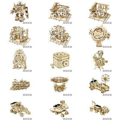 ROKR Mechanical Wooden Model Kits - Choose From The Drop Down Menu • 23.99£