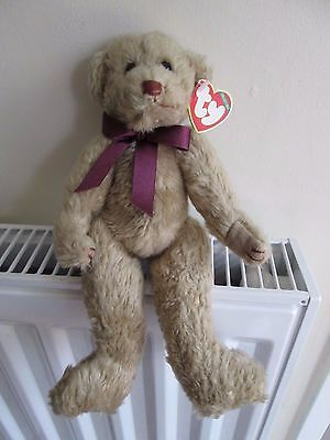 SALE !!!!!!   TYLER  TY BEAR, Attic Treasure, Burgundy Ribbon RARE & COLLECTABLE • 24.99£