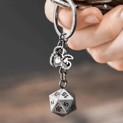 D20 Dice Keyring - Dungeons & Dragons - Brand New - D&D • 9.99£