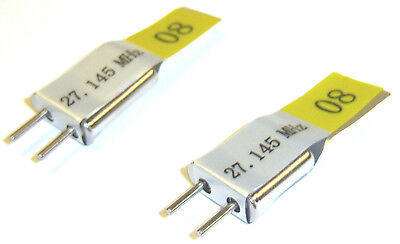 RC Transmitter Receiver 27mhz AM Crystal Set 27 Mhz 27.145 TX & RX Yellow Ch 8 • 3.79£