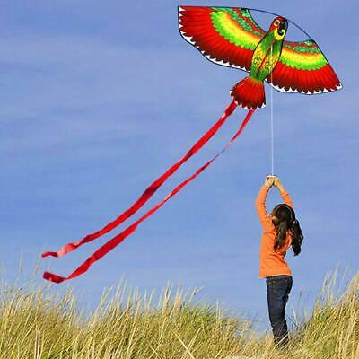 3D Parrot Kite Kids Toy Fun Outdoor Flying Activity Game Children Gift With Tail • 2.99£