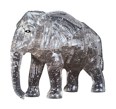 3D Cute Elephant Crystal Puzzle Numbered Jigsaw Pieces Brain Teaser Boxed  • 8.75£