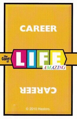 THE GAME OF LIFE BOARD GAME: 6 X CAREER CARDS - SPARES & REPLACEMENTS • 3.95£