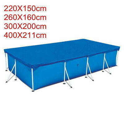 Rectangle Swimming Pool Cover For Outdoor Bestway Intex Family Swimming Pools UK • 14.85£