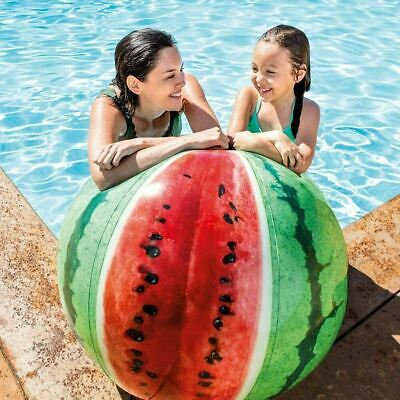 42  Intex Inflatable Giant Watermelon Beach Ball Realistic Design Pool Toy • 7.49£