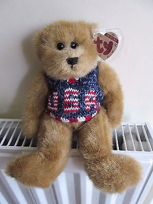 SALE ! TY ATTIC TREASURE BEAR  DIGBY  5th GenTag, USA Waistcoat RARE COLLECTABLE • 39.99£